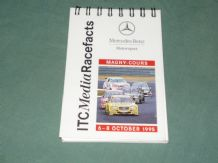 MERCEDES-BENZ ITC Media Race Facts Magny Cours 1995 (small notebook)